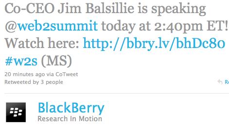 Web 2.0 Summit RIM