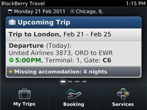 BlackBerry Travel App
