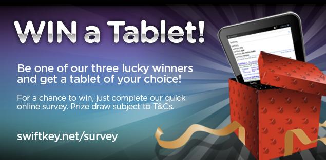 Take Survey, Get a Shot at Winning a Free Tablet