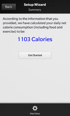Body Buddy calorie count
