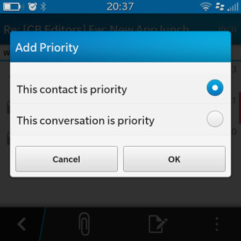 Priority Hub Mark contact or conversation as priority
