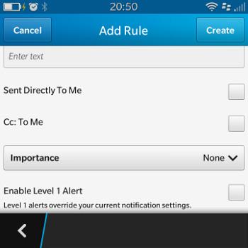 Priority Hub Rule Options
