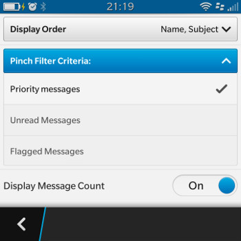 Pinch to Zoom Priority messages
