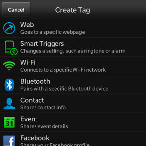 Smart Tags NFC tag options