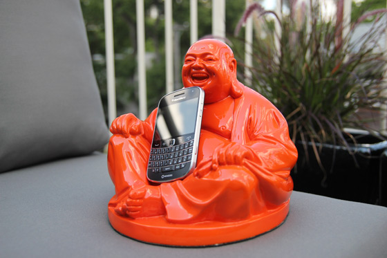 CrackBerry Buddah is smiling because he LOVES the BlackBerry Bold 9900!