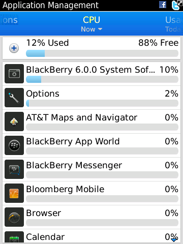 BlackBerry 6 - application management