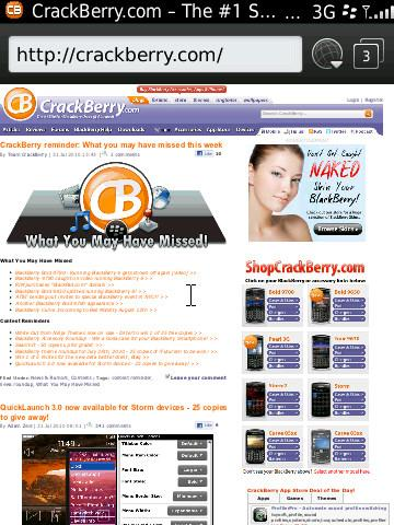 BlackBerry 6 - web browser
