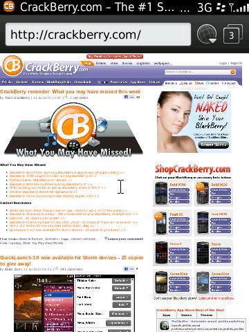 BlackBerry Torch 9800 Webkit Browser