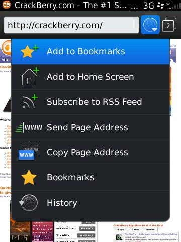BlackBerry 6 - global options