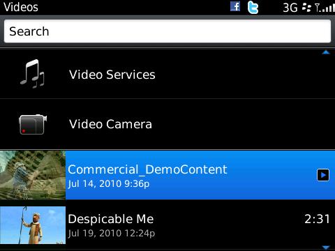 BlackBerry 6 - movies