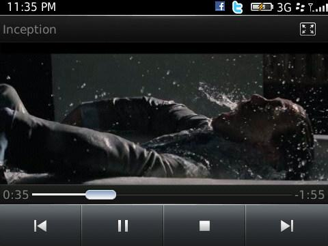 BlackBerry 6 - movies