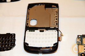 Main BlackBerry Torch 9800 chassis