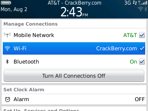 BlackBerry Torch - WiFi, Bluetooth