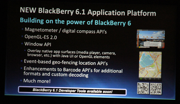 BlackBerry 6.1 Appliation Platform