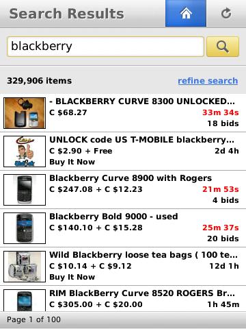 ebay for BlackBerry