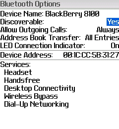 Discoverable BlackBerry