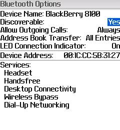 Discoverable BlackBerry