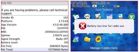 OS4.5 Battery Life Indicator