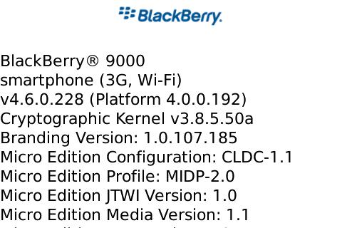 OS 4.6.0.228 for the BlackBerry Bold