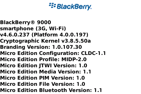OS 4.6.0.237 for the BlackBerry Bold