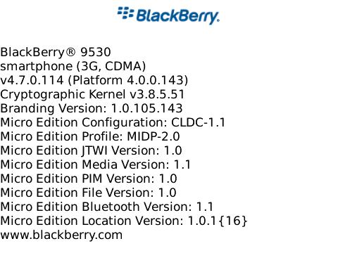 OS 4.7.0.114 for the BlackBerry Storm 9530