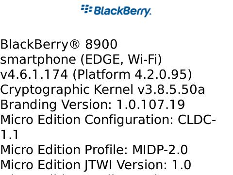 BlackBerry Curve 8900 OS .174 Leaked!