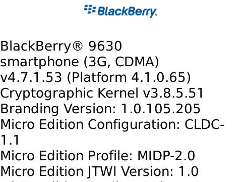 OS 4.7.1.53 for the BlackBerry Tour