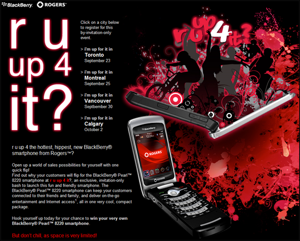BlackBerry Pearl 8220 Launch Parties!!
