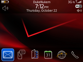 Curve 8530 Today Screen