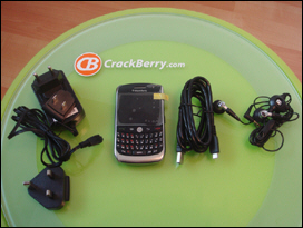 A freshly unboxed pre-release BlackBerry Javelin 8900