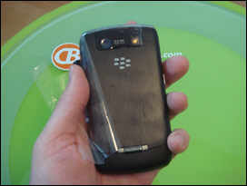 A 3.2 megapixel camera! Finally! Nice BlackBerry logo and new latch design is much improved