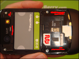 Under the hood: Battery has a custom shape; no need to remove the battery to access media card