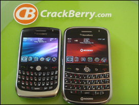 BlackBerry Javelin 8900 and BlackBerry Bold 900 side by side