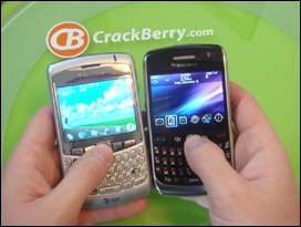 BlackBerry Curve 8300 and Javelin 8900 side by side