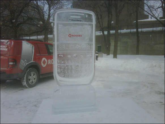 BlackBerry Curve 8900 Ice Sculpture