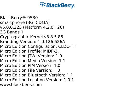 OS 5.0.0.323 for the BlackBerry Storm 9530