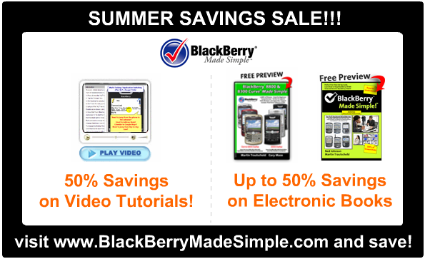 BlackBerry Made Simple Summer Savings!