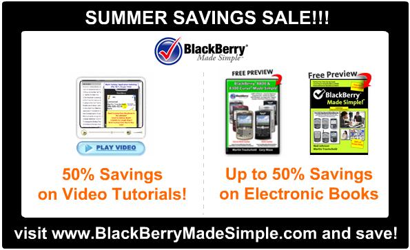 BlackBerry Made Simple Summer Savings!
