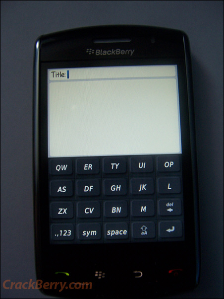 BlackBerry Thunder - SureType