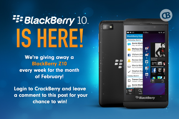 Win a Free BlackBerry Z10 from CrackBerry.com!