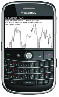 GPSLogger for BlackBerry Smartphones