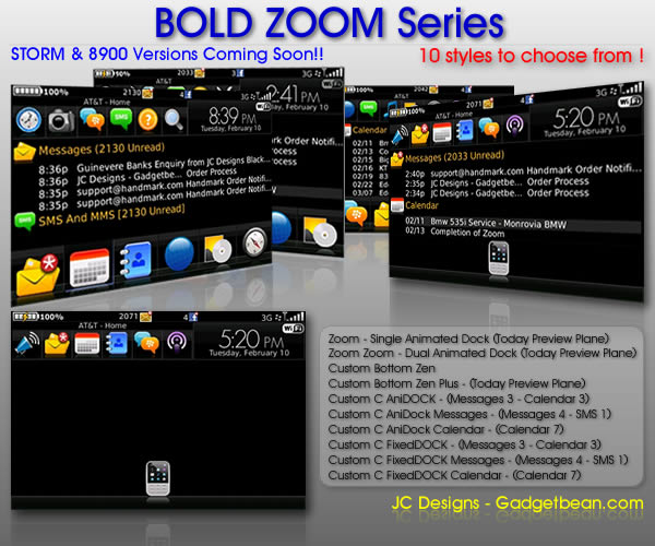 BOLD ZOMM Series Themes