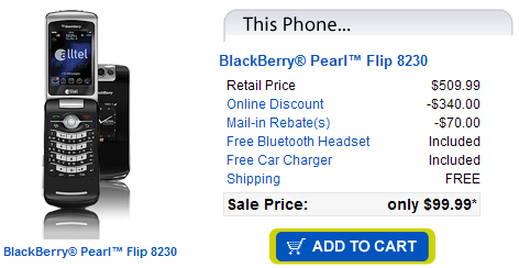 Alltel BlackBerry Pearl Flip 8230 Now Available!