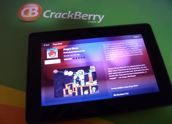 Download Angry Birds for BlackBerry PlayBook