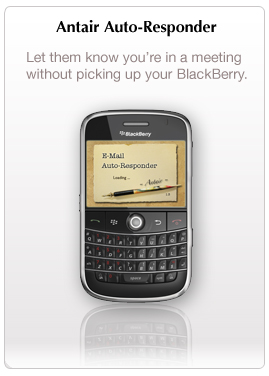 Antair E-Mail Auto-Responder for BlackBerry