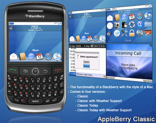 AppleBerry Classic for the BlackBerry Curve 8900