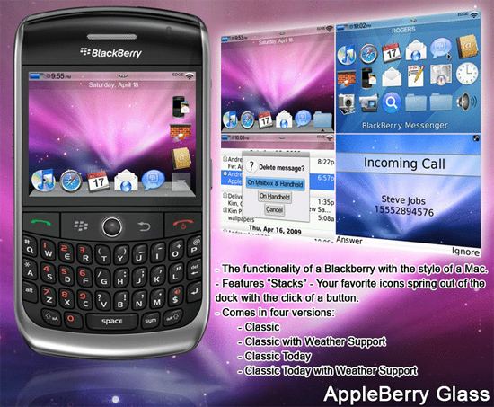 AppleBerry Glass for the BlackBerry Curve 8900