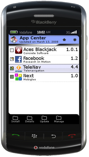 BlackBerry Application Center