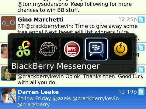 BlackBerry Application Switcher Tips