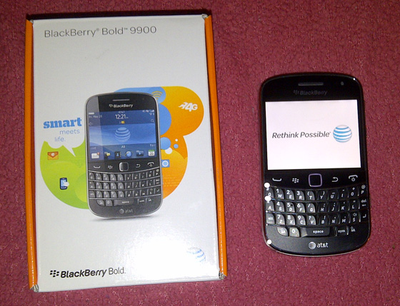 AT&T BlackBerry Bold 9900!